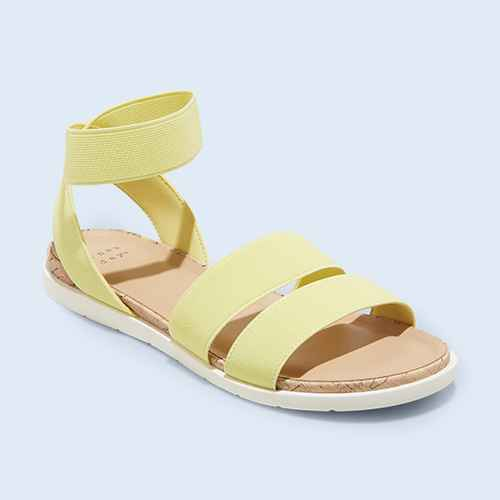 Women's Esme Elastic Ankle Strap Sandals - A New Day™ Yellow 6