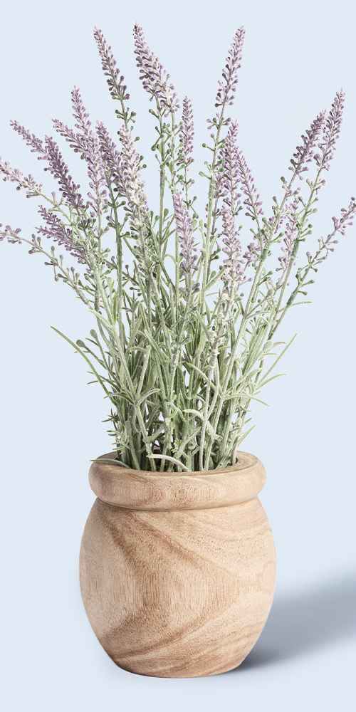 """15"""" x 8"""" Artificial Lavender Plant in Pot - Threshold™ designed with Studio McGee"""