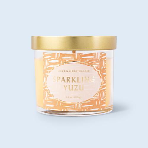4.1oz Lidded Glass Jar Sparkling Yuzu Candle - Opalhouse™
