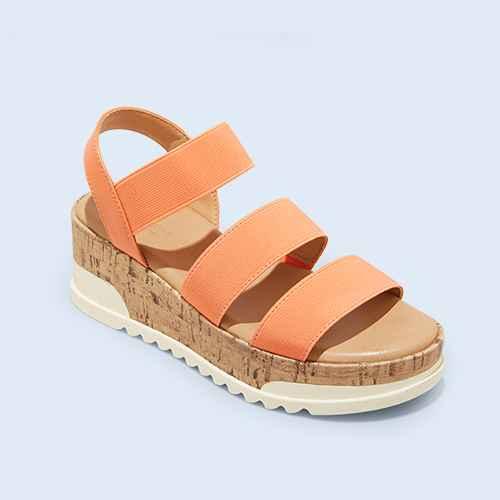 Women's Benni Sporty Platform Sandals - Universal Thread™ Orange 6