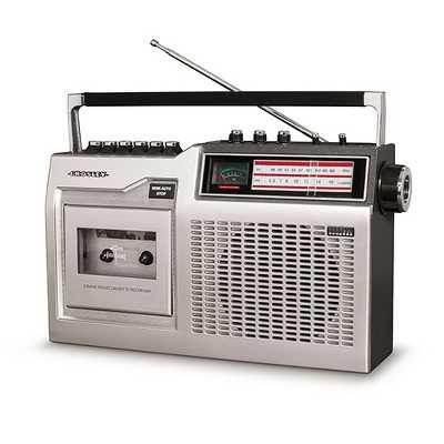 Crosley CT200 Cassette Player - Silver
