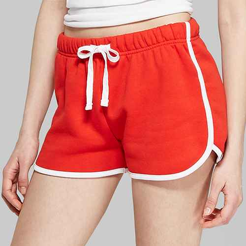 Women's High-Rise Fleece Dolphin Shorts - Wild Fable™ Company Red