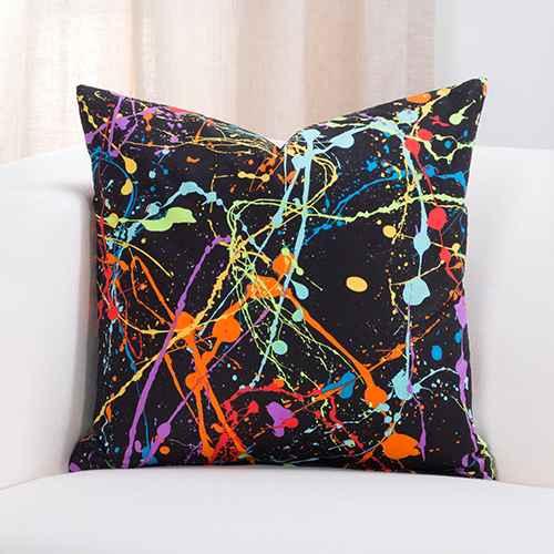 "16""x16"" Neon Plat Accent Throw Pillow With Sham - Crayola"