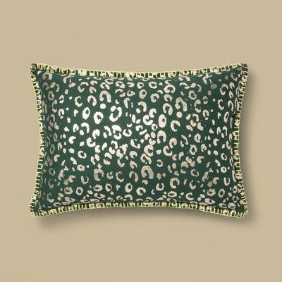 Metallic Foil Animal Print Lumbar Throw Pillow Orange - Opalhouse™