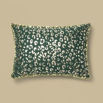 Metallic Foil Animal Print Lumbar Throw Pillow Orange - Opalhouse™