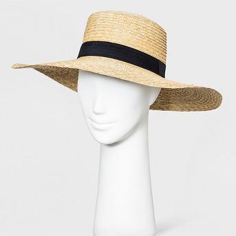 Women's Floppy Hat - A New Day™ Cornhusk Black Band