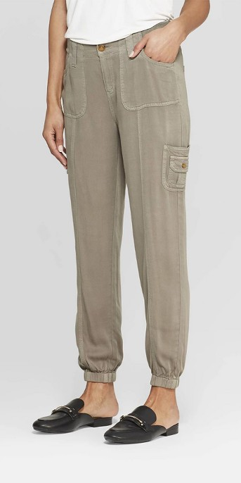 Women's Solid Cargo Soft Pants - Knox Rose™