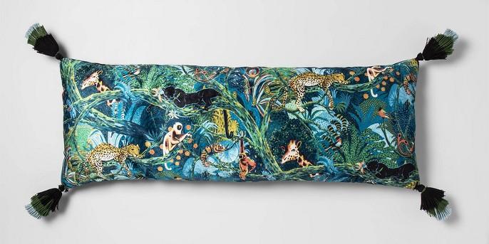Printed Velvet Oversize Lumbar Throw Pillow - Opalhouse™