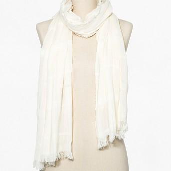 Women's Striped Woven Oblong Scarf - Universal Thread™ Sour Cream