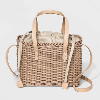 Basket Crossbody Bag - Who What Wear™ Buff Beige