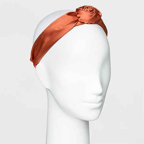 Knot Top Poof Satin Plastic Headband - A New Day™