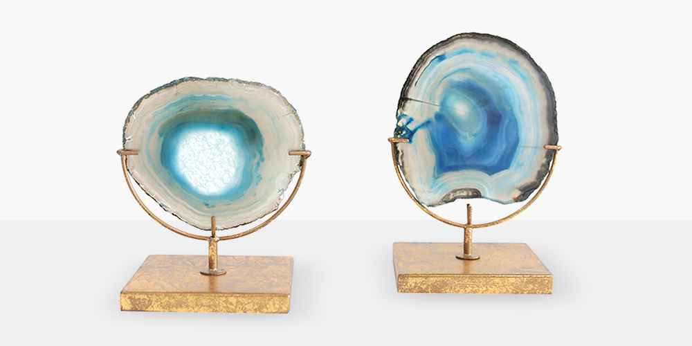 "Agate on Stand - Blue (4""H) - Includes 1 Stand Only"