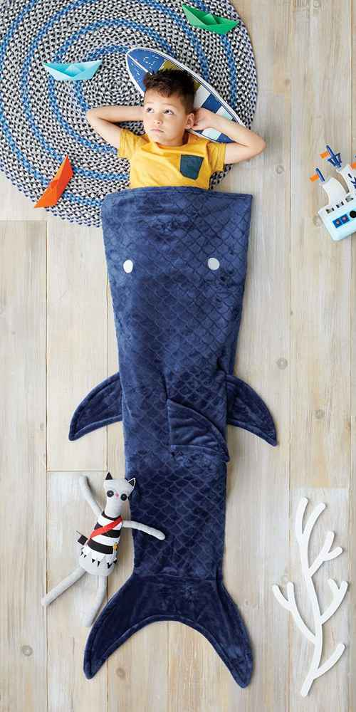Shark Tail Blue Wearable Blanket - Pillowfort™