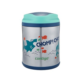 Contigo 10oz Stainless Steel Food Jar - Sharks Blue/Teal