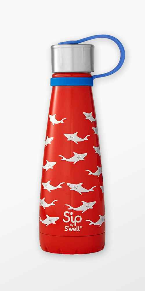 S'ip by S'well Vacuum Insulated Stainless Steel Water Bottle 10oz - Shark Bite