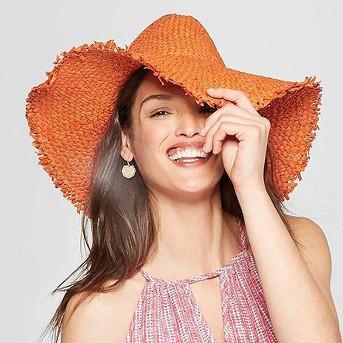 Women's Panama Hat - Universal Thread™ Orange