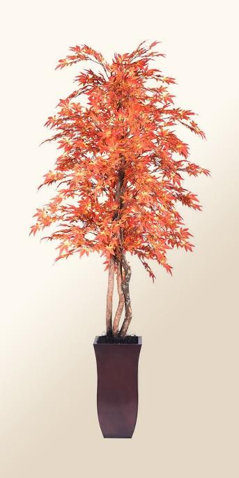 Artificial Maple Plant (6ft) Orange - Vickerman®