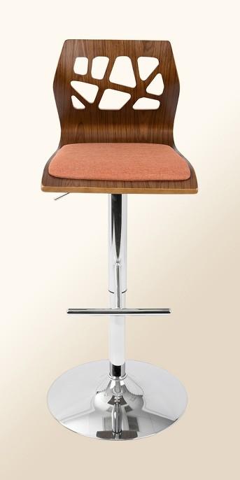 Folia Wood Adjustable Barstool Metal - LumiSource