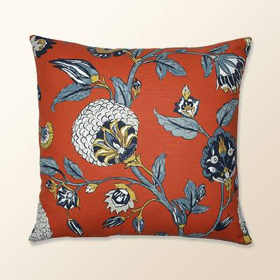 Auretta Persimmon Throw Pillow Light Blue - Pillow Perfect