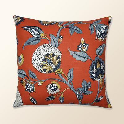 Auretta Persimmon Throw Pillow Light Blue - Pillow Perfect
