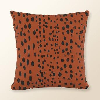 Linen Leopard Square Throw Pillow - Cloth & Co.