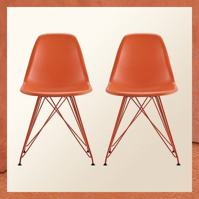 Mid Century Modern Molded Chair (Set Of 2) - Dorel Home Products