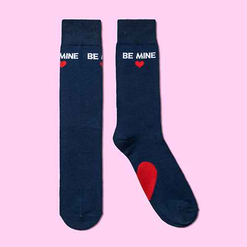 Men's Valentine's Day Crew Socks - Goodfellow & Co™ Navy 6-12