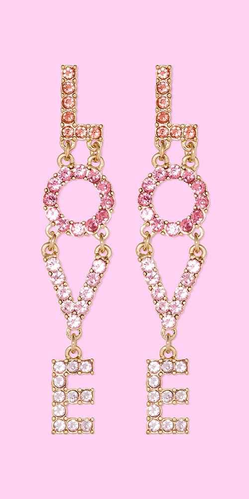 SUGARFIX by BaubleBar Love Drop Earrings - Pink