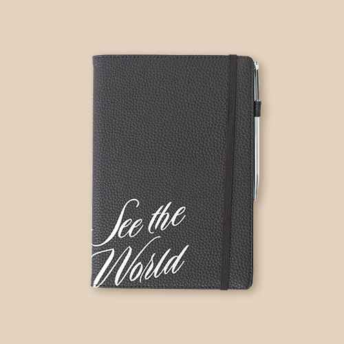 Path Travel Journal with Pen - Navy