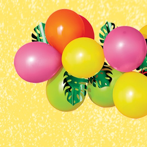 Balloon Garland with Leaves Green - Sun Squad™
