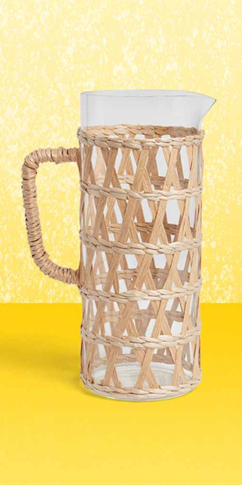 64oz Glass Natural Wrap Beverage Pitcher - Opalhouse™