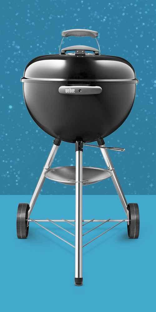 """Weber 18"""" Original Kettle Charcoal Grill 441001 Black"""