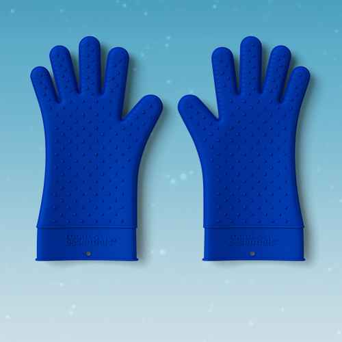 Silicone Grill Gloves Blue - Room Essentials™