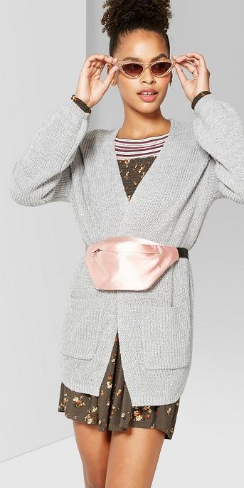 Women's Long Sleeve Open Shaker Cardigan - Wild Fable™