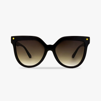 Women's Smoke Sunglasses - A New Day™ Black
