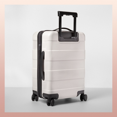 """Hardside Carry On Spinner Suitcase 20"""" Tan - Made By Design™"""