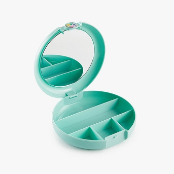 Caboodles Makeup Bags And Organizers Retro Cosmetic Compact - Seafoam