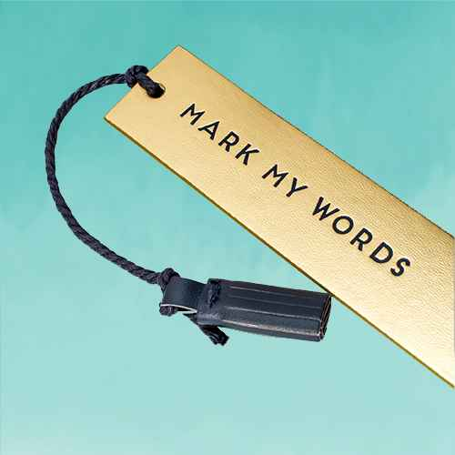 Dabney Lee Bookmarks - Set of 3 Faux Leather Tassel Bookmarks with Sayings