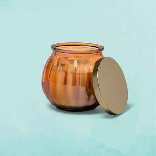 14oz Iridescent Glass Jar Candle Salted Citrus Bellini - Fruit Collection - Opalhouse™