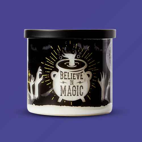 15oz Lidded Glass Jar Believe in Magic Candle - Hyde & EEK! Boutique™