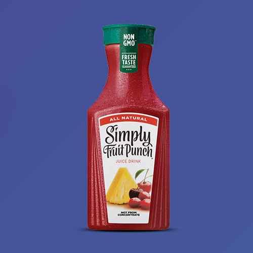 Simply Fruit Punch All Natural Juice Drink - 52 fl oz, Minute Maid Fruit Punch - 59 fl oz, 100% Apple Juice - 64 fl oz Bottle - Market Pantry™, Tropicana Pineapple Mango Drink - 52 fl oz