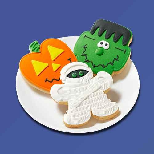 Mummy, Ghost, RIP Sugar Cookies -6.35oz/3ct - Hyde & EEK! Boutique™, Halloween Goulish Sugar Cookie Decorating Kit - 11.6oz - Hyde & EEK! Boutique™, Halloween Ghost Hollow Cookie Kit - 28.81oz - Hyde & EEK! Boutique™, Pillsbury Funfetti Halloween Cake Mix 15.25 oz