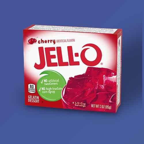 JELL-O Cherry Gelatin - 3oz, JELL-O Orange Gelatin - 6oz, JELL-O Lemon Gelatin - 3oz, JELL-O Lime Gelatin - 6oz, JELL-O Original Strawberry Gelatin - 13.5oz/4ct