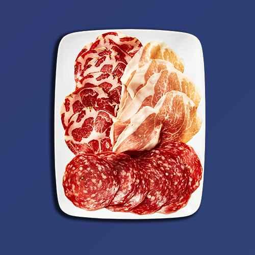 Sampler Pack Calabrese Salami, Prosciutto and Capocollo - 6oz - Good & Gather™, Applegate Naturals Charcuterie Trio - 3oz, Columbus Sliced Italian Dry Salame Deli Meats - 12oz, Prosciutto - 3oz - Good & Gather™, Columbus Italian Dry Salame Deli Meats - 8oz