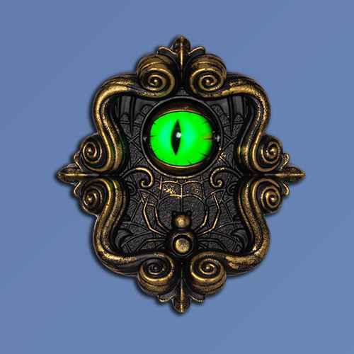 Animated Doorbell with Eye Halloween Decorative Prop - Hyde & EEK! Boutique™