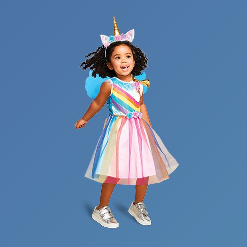 Toddler Rainbow Unicorn Halloween Costume 2T-3T - Hyde & EEK! Boutique™