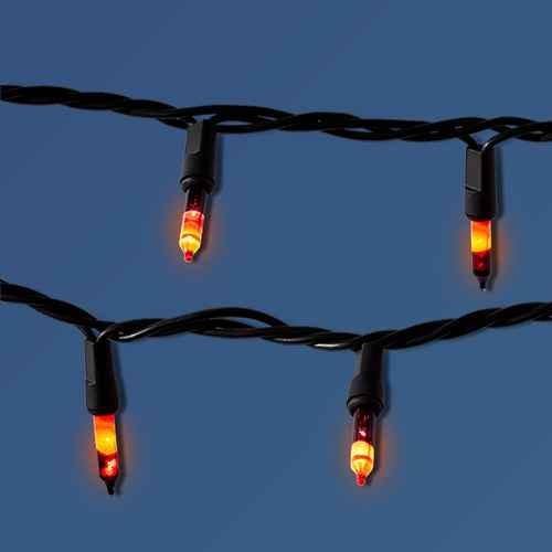 100ct Purple/Orange Incandescent Halloween Mini String Lights - Hyde & EEK! Boutique™