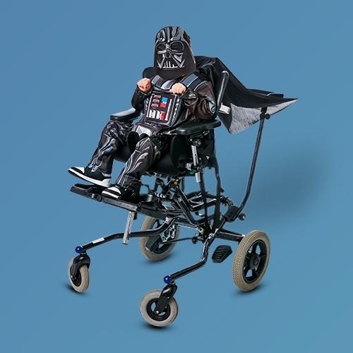 Kids' Adaptive Star Wars Darth Vader Halloween Costume Jumpsuit with Mask L