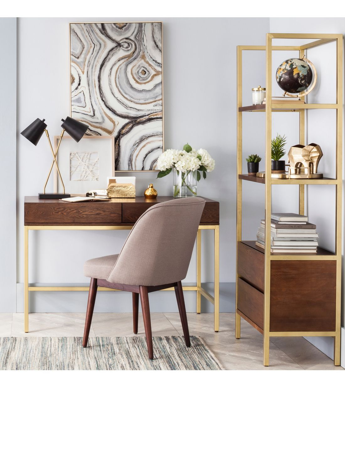 luxe & glam home office
