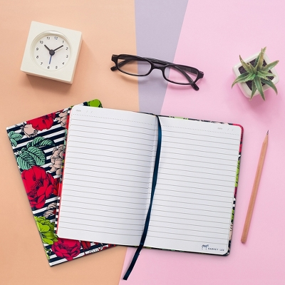 Dabney Lee Journal (240 pages, lined) - Flowers and Stripes